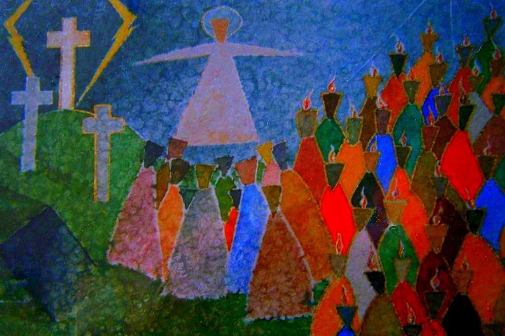 ´Van Goede Vrijdag tot Pinksteren´, aquarel van Benne Solinger